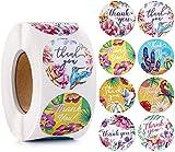 Adesivi floreali, 1000 pezzi 1 '' Adesivi per etichette per imballaggi di fiori, Adesivi rotondi autoadesivi Etichette regalo per regali fatti a mano Artigianato decorativo