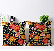 The Purple Tree Ethnic Printed Jute Cushion Covers ( 16x16 inch , Pack of 2) Cushion Covers, Jute Cushion Covers , Sofa...