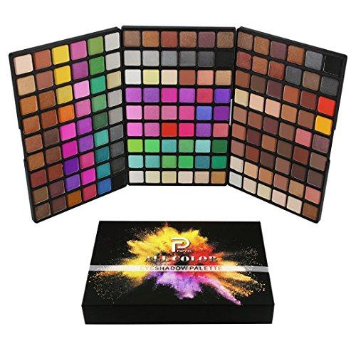 162 couleurs Makeup Shimmer Glitter Poudre ombre à paupières Matt Eyeshadow Brush Set de maquillage,Waterproof,Fards à paupières,Professionnel Cosmétiqu Paillettes Palette (260g, 15.6CM*10.5CM*2.5CM)