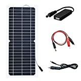 XINPUGUANG 10W 12v Flexible Solar Panel Monocrystalline Photovoltaic Module Solar Charger with DC