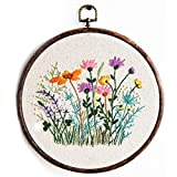 Maydear Stamped Embroidery Kit for Beginners with Pattern, Cross Stitch kit, Embroidery Starter Kit Including Embroidery Hoop, Color Threads and Embroidery Scissors - Herborist4