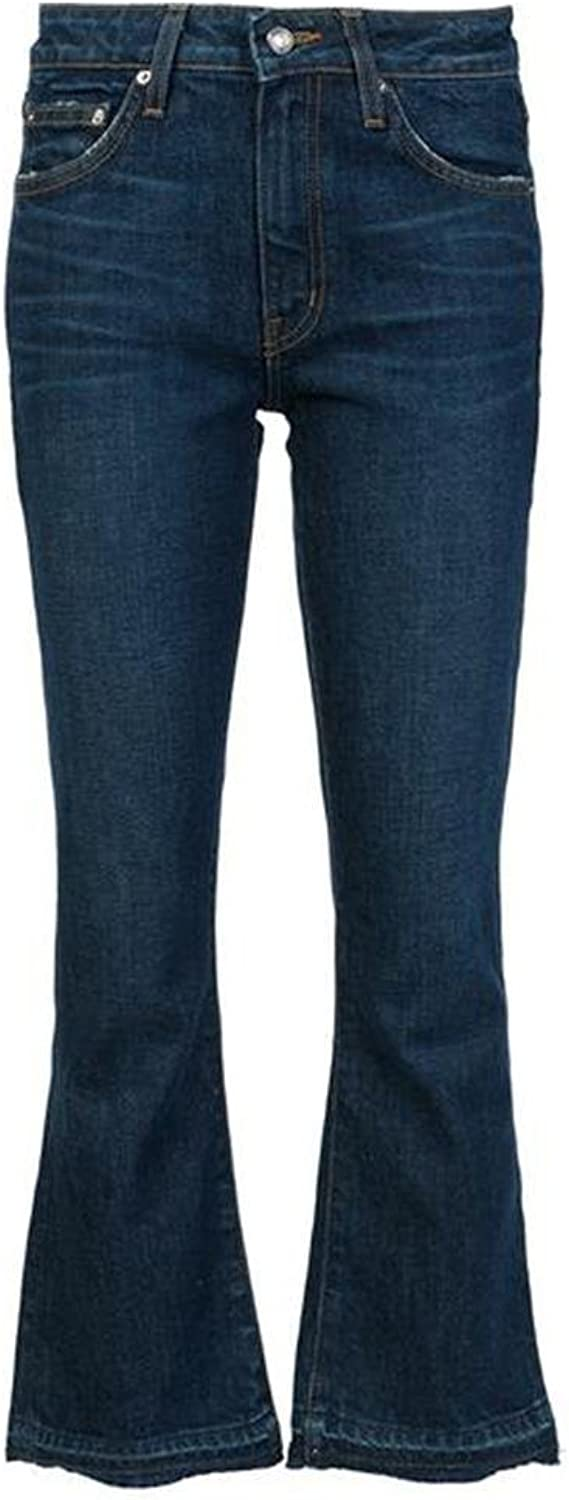 Derek Lam 10 Crosby Gia Women's MidRise Cropped Stretch Flare Jeans