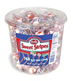Bob's Sweet Stripes Soft Peppermint Candy, 160 Count, 28 Ounce Jar