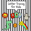 Letter Tracing for Kids: Practice Tracing Letters and Alphabet, Ages 3-5, Preschool, Gray (ABC Learning for Toddlers, Pres...