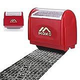 MoKo Sello Personalizado de Tipo de Rodillo, Sello Privado de Proteccin de Identidad, Sello Autoentintable Personalizado con Agujero de Tinta para Ocultar Informacin Privada y Confidencial, Rojo