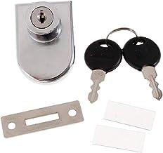 Baoblaze Vitrine voor tentoonstellingskast van glas, gereedschapskist, deurslot, met sleutel met 2 sleutels, 408 - vrijstaand