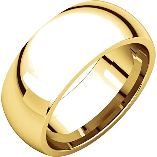 Men's and Women's 14k Yellow Gold, 8mm Wide, Heavy Comfort Fit, Plain Wedding Band - Size 11 14k Gents Wedding Band