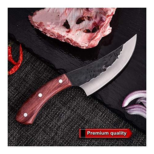 Messer Handgemachtes geschmiedetes Hammered Chef Küchenmesser Grill Werkzeuge Butcher Fleischerbeil Outdoor-Camping-Gadgets Home Cooking (Color : A)