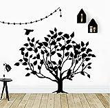 Lindo árbol decoración del hogar pegatinas de pared para bebé niños habitaciones decoración pegatinas creativas dormitorio pegatinas 71x57cm