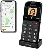 Easyfone Prime-A4 Unlocked SIM-Free Senior Mobile Phone, GPS Big Button Hearing Aids Compatible