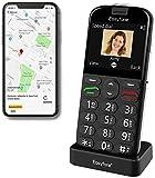 Easyfone Prime-A4 Smart Seniorenhandy ohne Vertrag (mit SOS-Funktion, GPS, Farbdisplay 2,31 Zoll, Mobiltelefon mit extra großen Einzeltasten & Tischladestationzur einfachen Bedienung) (A4 Schwarz)