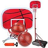 Chunlan Durable Einstellbare Innenmini Basketball Fun Spiel, Kinder und Kinder-Trainingsgeräte Spielzeug Innen- und Außen, große Basis Stabiler (2 Kugeln), 2m MEI (Size : 2m)