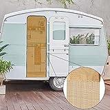 Bestlivings Cortina de hilos (56 x 185 cm) en oro, ideal para caravanas y autocaravanas como cortina de puerta