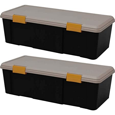 【2個セット】アイリスオーヤマ ボックス RVBOX 900D カーキ/ブラック 幅90x奥行40x高さ28cm