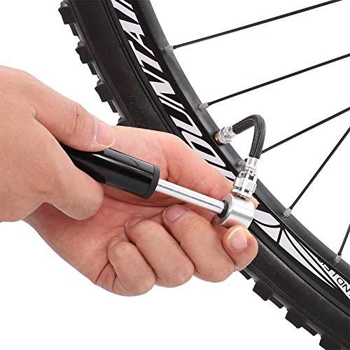 SALALIS Mini Bomba de Bicicleta de aleación de Aluminio no fácil de Romper, Adecuada para boquillas de Francia y boquillas de EE. UU.