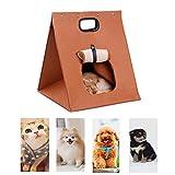 Woho, morbida borsa da viaggio pieghevole e portatile, caldo letto in feltro, cuccia e borsa da viaggio per cani, gatti, cuccioli, conigli e piccoli animali