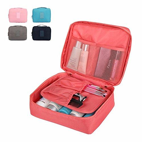 Sac de rangement étanche multifonction en tissu Oxford compact pour maquillage et salle de bain