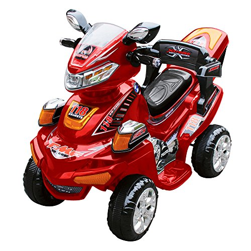 Quad Elettrico per Bambini 6V Kid Go Elegance Rosso