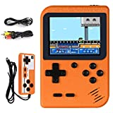 Handheld Game Console, Hbaid Retro Mini Game Player with 500 Classical FC Games 3.0-Inch Color Screen Support for TV Two players 1020mAh Rechargeable Battery Present for Kids Boys Girls and Adult