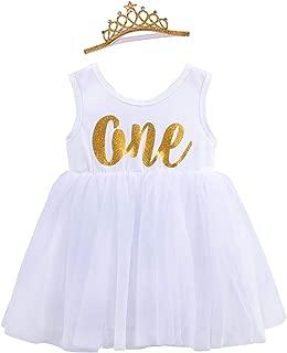 TUTUKIDS Baby Girls 1st Birthday Tank Dress Cotton Tulle Tutu Dress Newborn Cake Smash Princess Sundress 1-2T