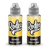 Twin Pack - 2 x 100ml Custanilla E Liquid 70/30 Vape Juice E-Liquid Juice 0mg Flavoured eJuice E Cigarette Liquid No Nicotine 120ml Bottle Short Fill 200ml (Rodeo E Liquid)