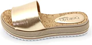 BEIRARIO Metallic Slipper for Women