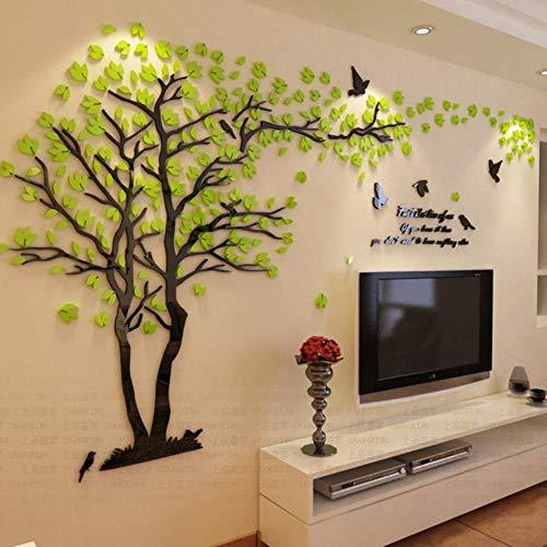 Liefhebbers Boom Acryl Kristal Muurstickers DIY Art Wall Decor Stickers Woonkamer Tv Sofa Muur 3D Decoratie, 8, XL 200CM 365CM