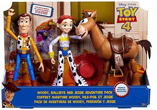 Mattel-GKF63 Toy Story Set Woody+Perdigón+Jessy, Multicolor (GKF63)