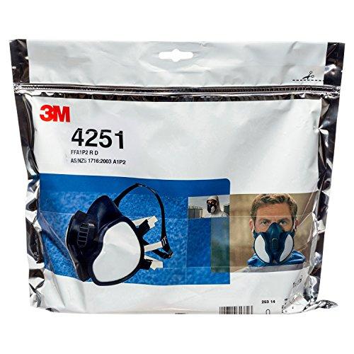 3M Atemschutz-Halbmaske Wartungsfrei, FFA1P2R D-Filters, 4251, EN-Sicherheit zertifiziert - 5