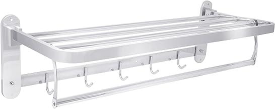 RVS Handdoekenrek | 60cm Handdoekrails Wandmontage | Geborsteld Metaal Zilver | Chroom Handdoekenhouders voor Badkamers & ...