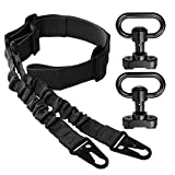 Rifle Sling 2 Point Sling Adjustable with 2 PCS QD Sling Mount for Mlok, Two Point Sling with QD Sling Swivels Quick Release Sling Attachment