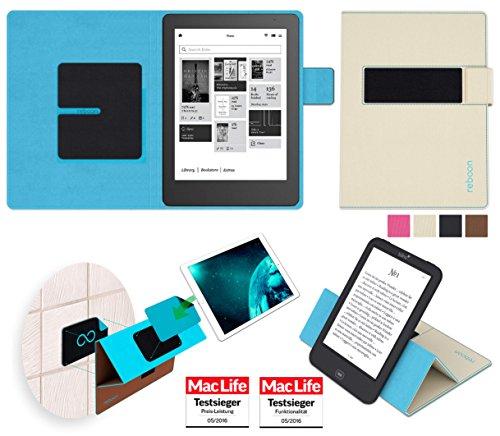 reboon Hülle für Kobo Aura HD Tasche Cover Case Bumper | in Beige | Testsieger