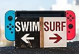 Swim Surf Sign Beach Nintendo Switch Dock Vinyl Decal Sticker Skin by Moonlight Printing