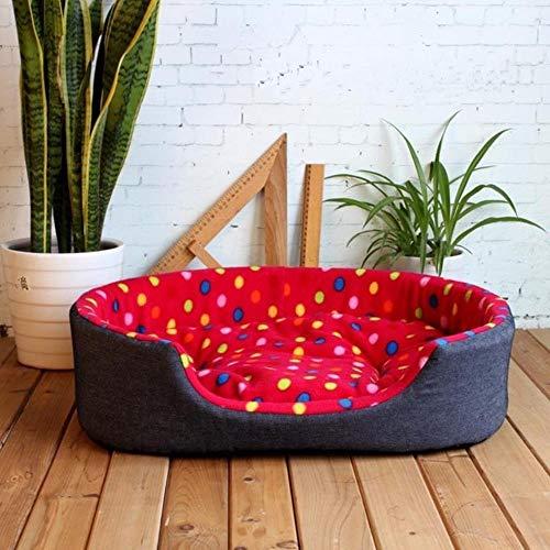 Draagbare warme huisdier hondenhok warm hondenhok afneembare wasbare warme doos huisdier hond bed geschikt voor familie binnen 45cmX35cmX13cm, 45cmX35cmX13cm, Rood