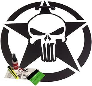 AlphaVinyl Hood Decal Punisher Star Oscar Mike 18