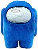 MORANGO Peluches Among Us, Plush Crewmate Among Us Matanza de Hombre Lobo Espacial, muñeco de Personaje del Juego - 20 cm (Azul)