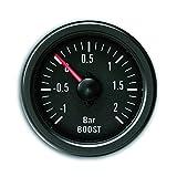 JOM 21110V Manomètre Youngtimer, Pression de Turbo, Boost, Noir Ø52mm