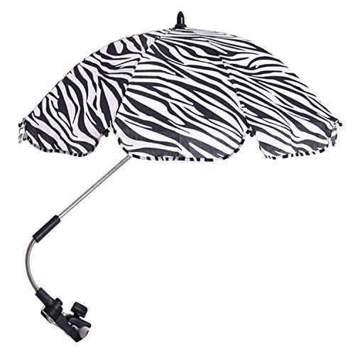 Einstellbar Baby Kinderwagen Sun Shade UV Regenschutz Umbrella Sonnenschirm mit Swivel Connector für Rollstuhl Kinderwagen Zubehör Schwarz