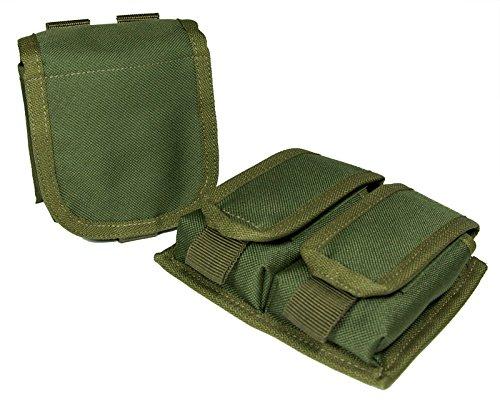 SWAT SYSTEM x Z.A.N 【SH13 SH Hand Gun Mag Pouch 2set】 Olive (オリーブ)