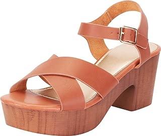 Women's Retro 70s Clog Crisscross Strappy Chunky Platform Block Heel Sandal