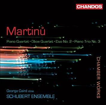 Martinu, B.: Piano Quartet No. 1 / Oboe Quartet / Duo No. 2 / Piano Trio No. 3