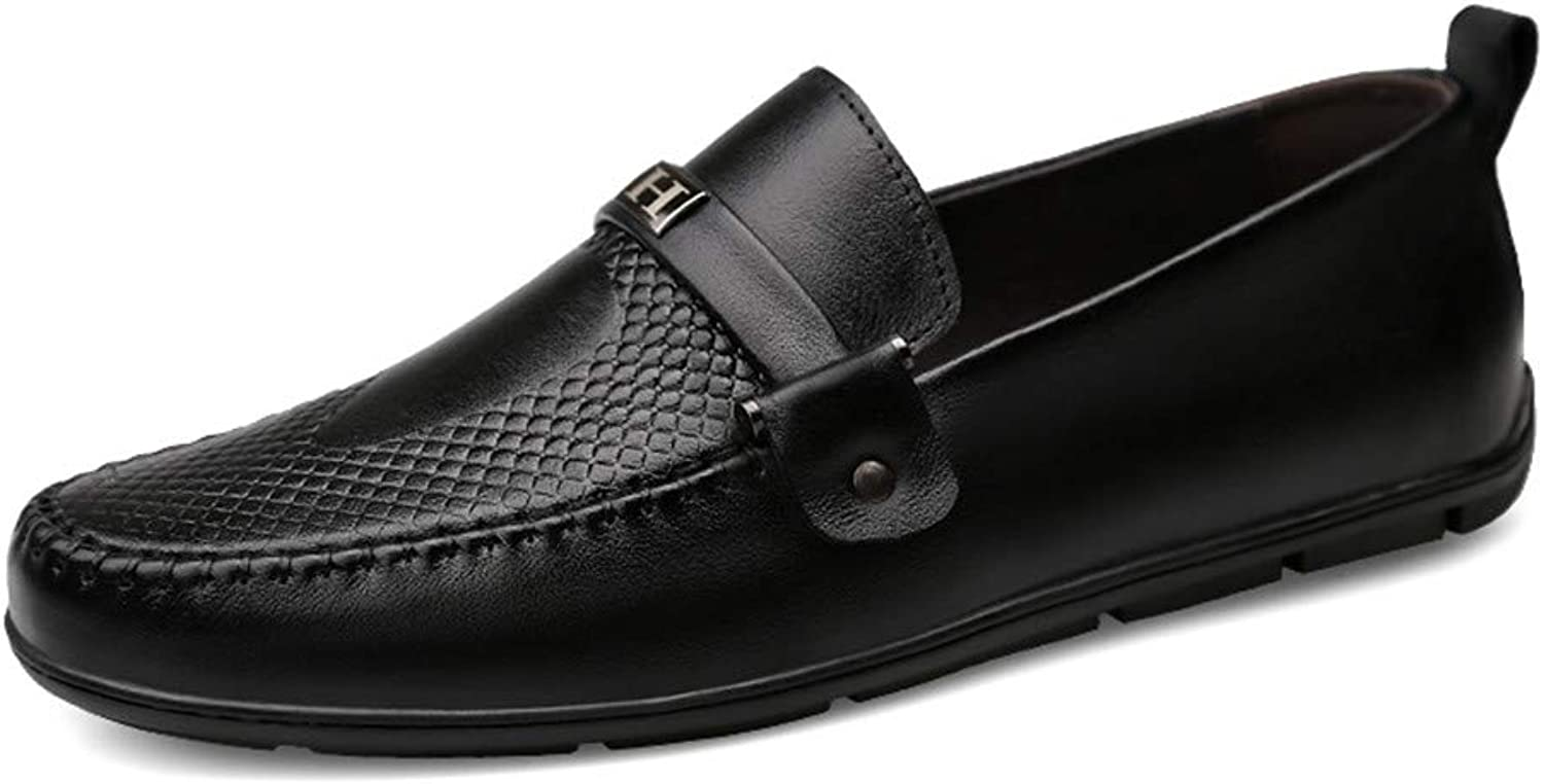 Men's shoes Flat Loafers Spring Fall Comfortable Loafers & Slip-Ons Driving Business Lazy shoes Black bluee Brown