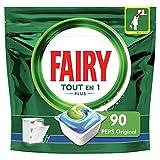 Fairy Tout-en1 Plus Pastilles Lave-Vaisselle Peps Original Défie les taches les plus coriaces, 90 Doses