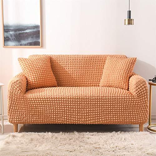 wjwzl Chaiselongue-Sofabezug, elastisch, rutschfest, für Wohnzimmer, Schlafzimmer, Sofa, Orange, (2 Sitze)+(4 Sitze)