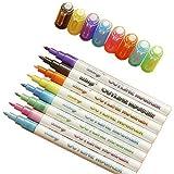 X1n diseño 8 colores/set de doble línea de contorno, marcadores metálicos con purpurina para hacer tarjetas, saludos de cumpleaños, libros de chatarra, pintura, manualidades