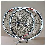 VPPV 700C Ruedas de Bicicleta de Carretera 40MM Pared Doble Freno En V Liberación Rápida Disco de Rodamiento Palin para 7 8 9 10 11 12 Velocidades (Size : 700C)