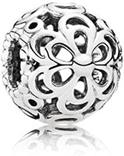 MiniJewelry Compatible with Pandora Charms Bracelets Heart Charm, Infinity Charm, Dragonfly Charm, Picking Daisies Flower Charm for Bracelets Sterling Silver Charms for Women Girls