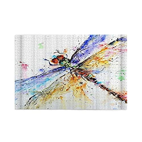 Jigsaw Puzzles For Adults 1000 Dragonfly Artwork Abstract Oil Painting Art Print Wooden Puzzle Games Family Fun