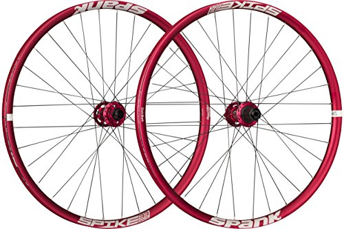 Spank Spike Race33 DH 27,5 Zoll wheelset 20 mm, 12/150 mm BB Laufräder, red, 650 B