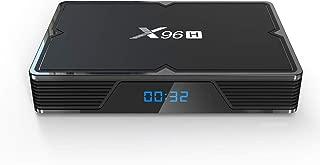 Android 9.0 TV Box 4GB RAM 32GB ROM, Aoxun X96H Android Box Allwinner H603 Quad-Core 64bits Dual-WiFi 2.4G/5.0G,3D Ultra HD 4K H.265 USB 3.0 BT 4.1+ HS Support Voice Remote Smart TV Box
